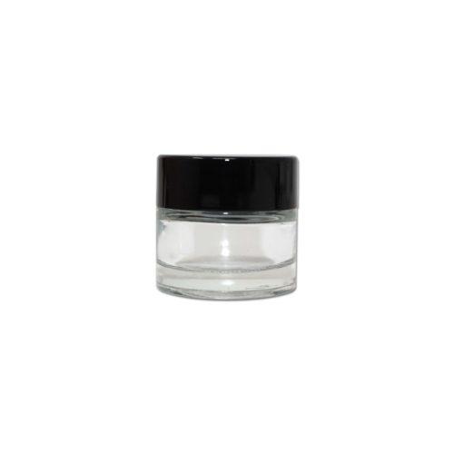 Child Resistant 10ml Glass Jar in White