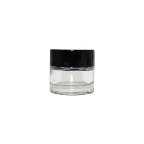 Child Resistant 10ml Glass Jar in White