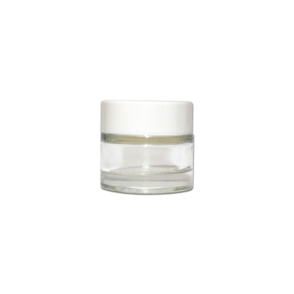 CR 10ml GlassJar with white lid